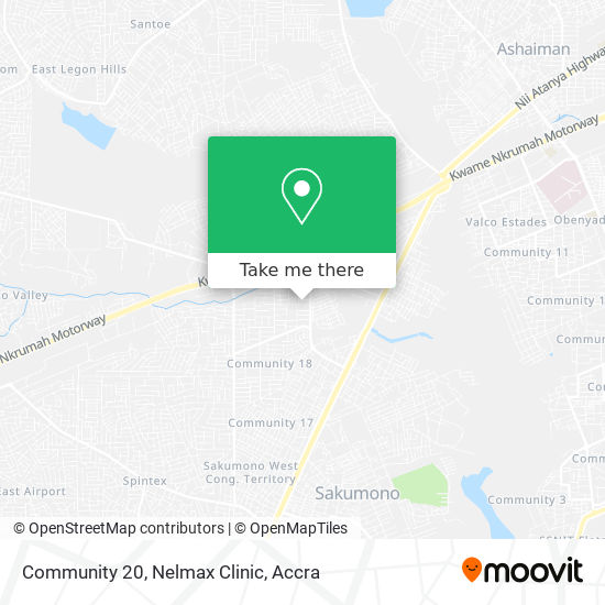 Community 20, Nelmax Clinic map