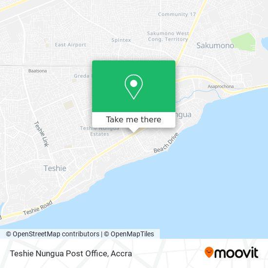 Teshie Nungua Post Office map