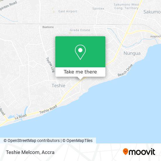 Teshie Melcom map