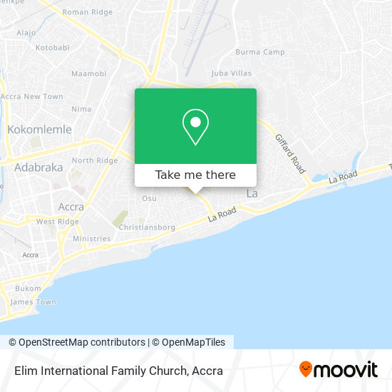 Elim International Family Church map