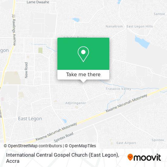 International Central Gospel Church (East Legon) map