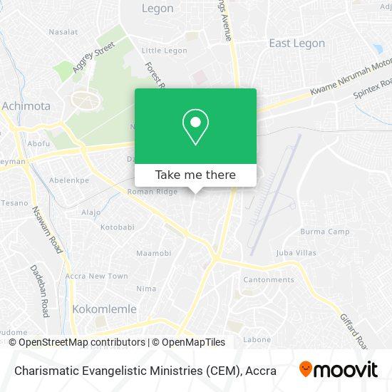 Charismatic Evangelistic Ministries (CEM) map