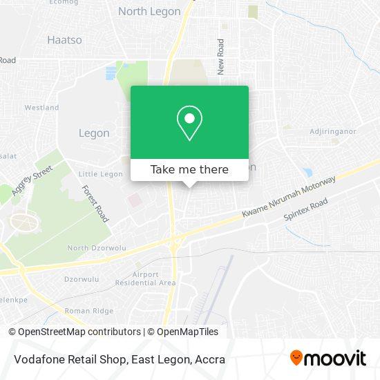 Vodafone Retail Shop, East Legon map
