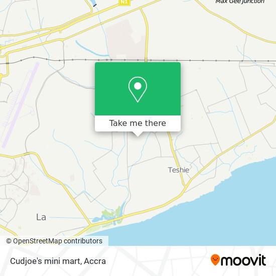 Cudjoe's mini mart map