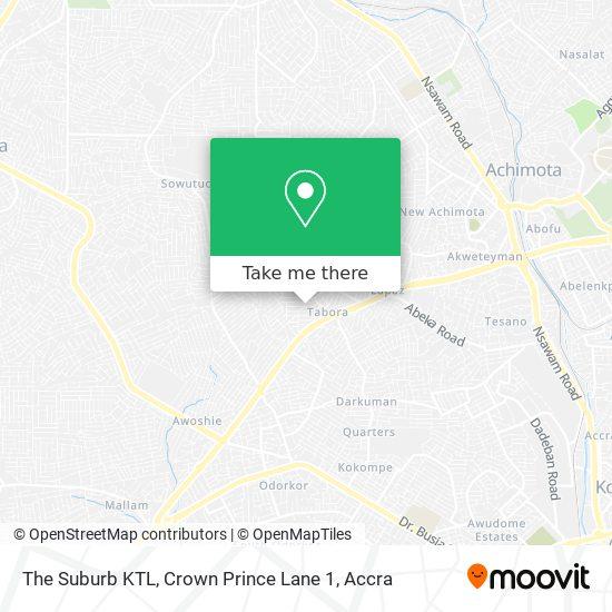 The Suburb KTL, Crown Prince Lane 1 map