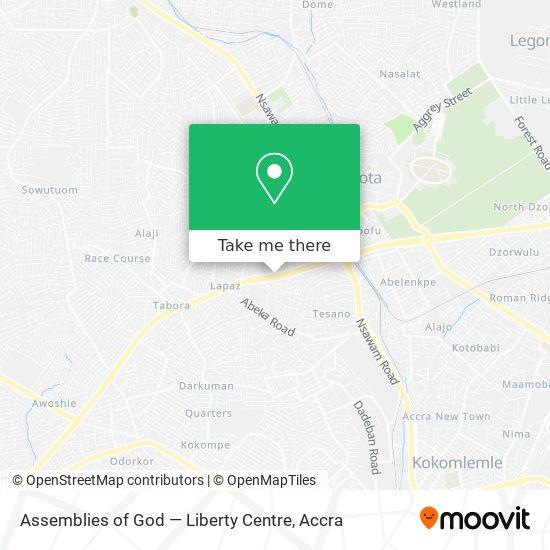 Assemblies of God — Liberty Centre map
