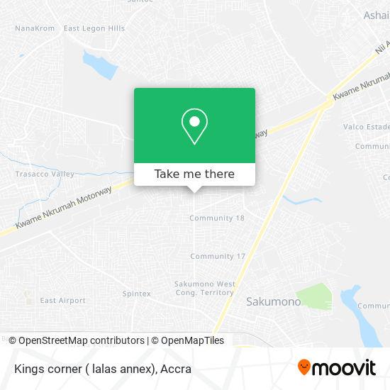 Kings corner ( lalas annex) map