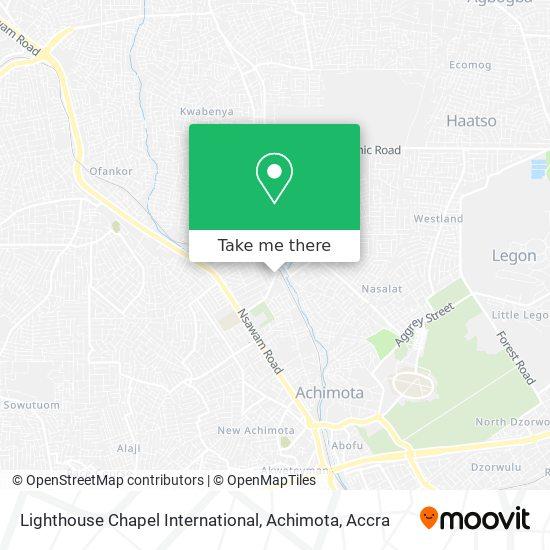Lighthouse Chapel International, Achimota map