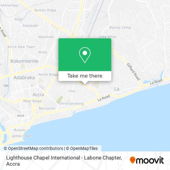 Lighthouse Chapel International - Labone Chapter map
