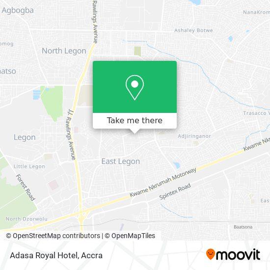 Adasa Royal Hotel map