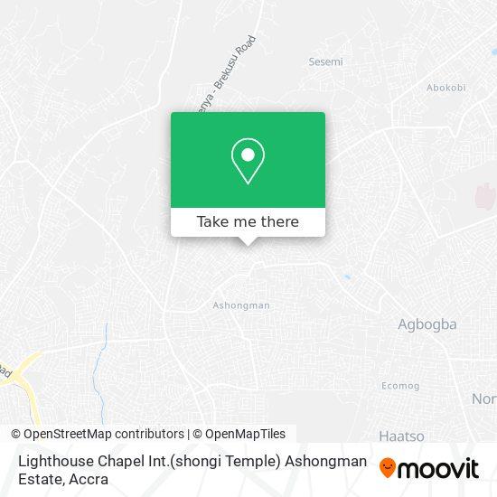 Lighthouse Chapel Int.(shongi Temple) Ashongman Estate map