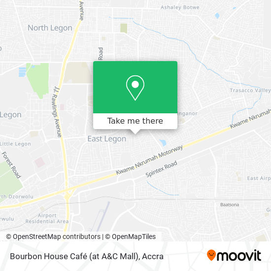 Bourbon House Café (at A&C Mall) map