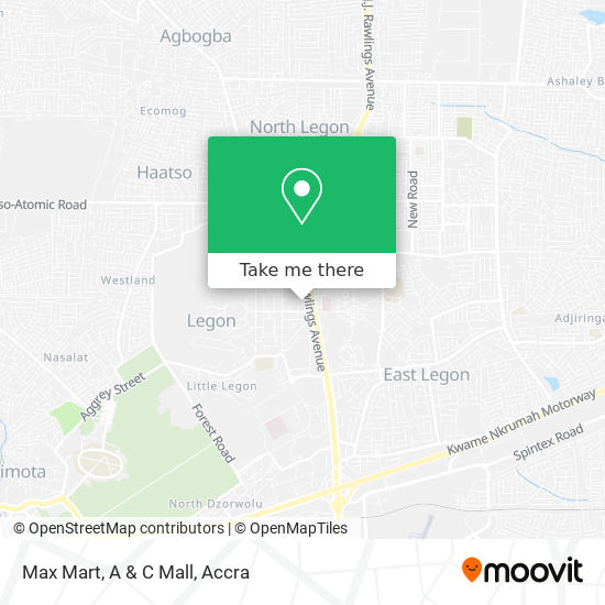 Max Mart, A & C Mall map