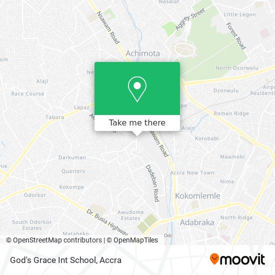 God's Grace Int School map