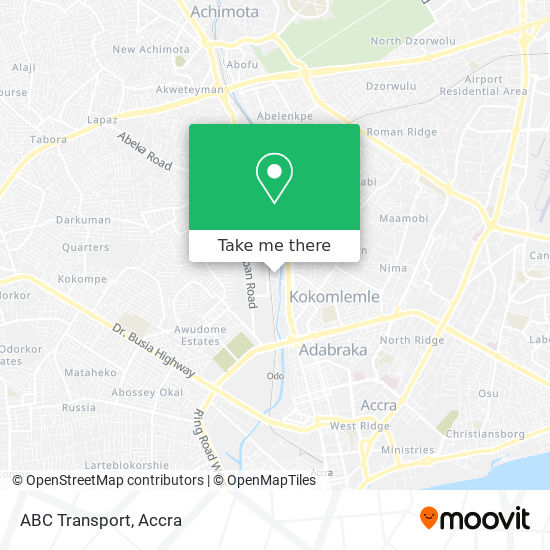 ABC Transport map