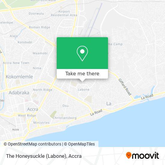 The Honeysuckle (Labone) map