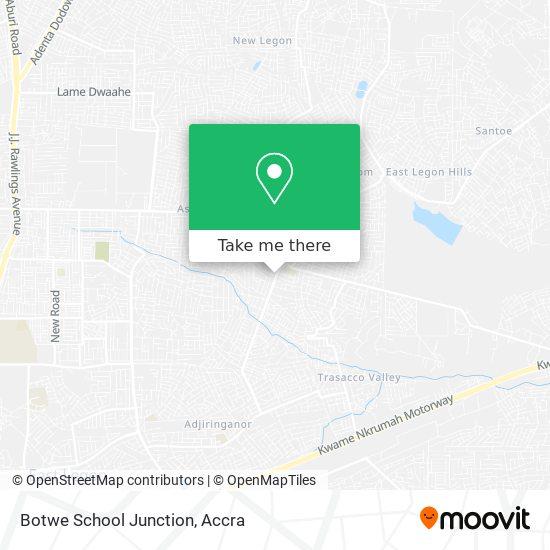 Botwe School Junction map