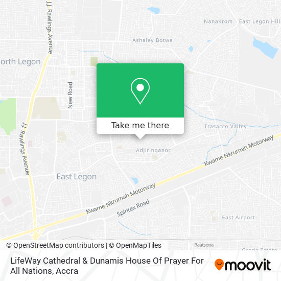 LifeWay Cathedral & Dunamis House Of Prayer For All Nations map