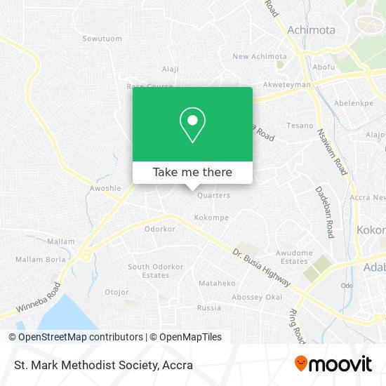 St. Mark Methodist Society map