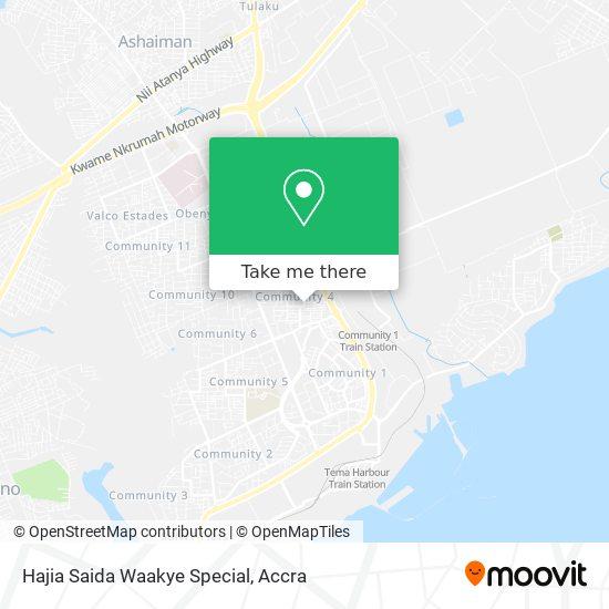 Hajia Saida Waakye Special map