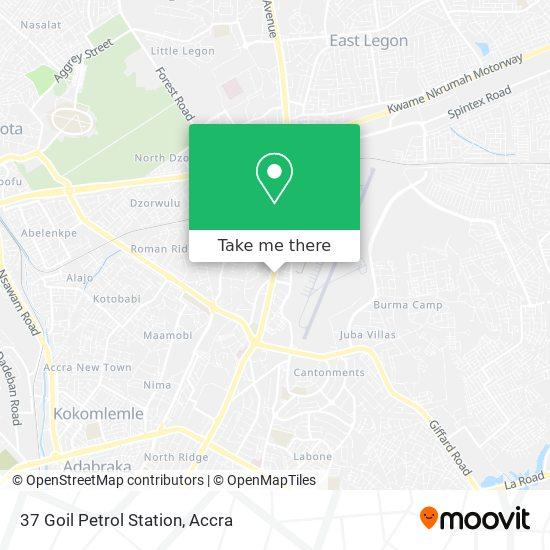 37 Goil Petrol Station map