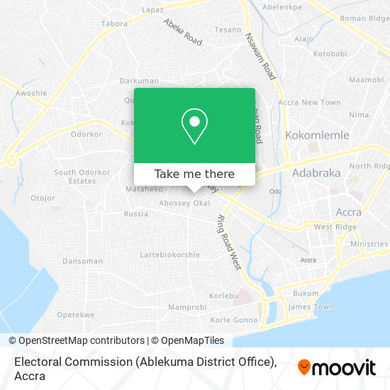 Electoral Commission (Ablekuma District Office) map
