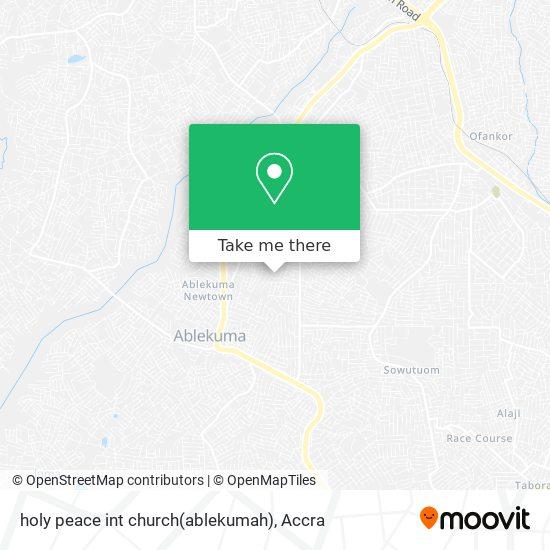 holy peace int church(ablekumah) map