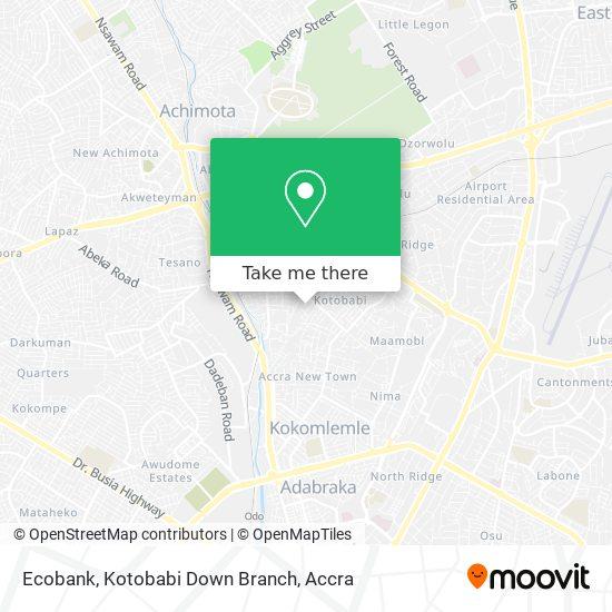 Ecobank, Kotobabi Down Branch map