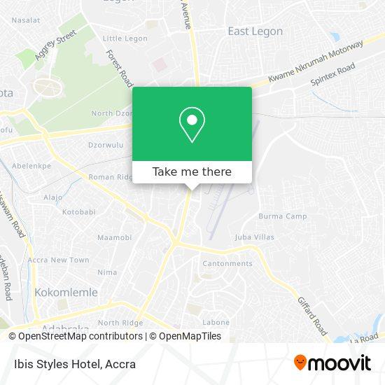 Ibis Styles Hotel map