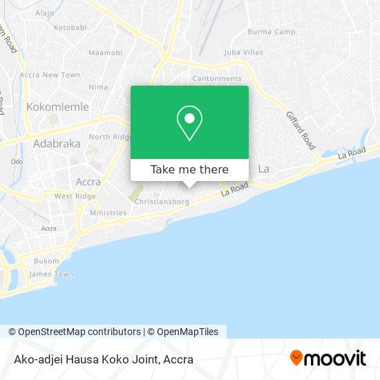 Ako-adjei Hausa Koko Joint map