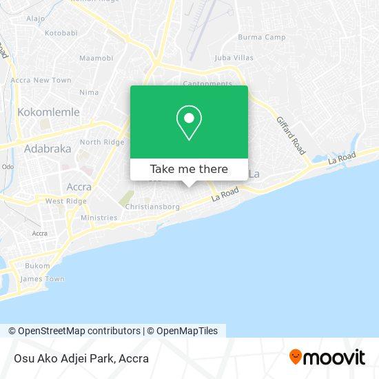 Osu Ako Adjei Park map