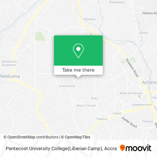 Pentecost University College(Liberian Camp) map