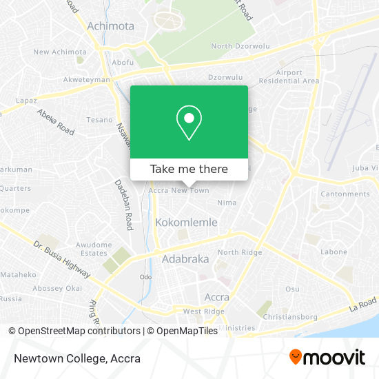 Newtown College map