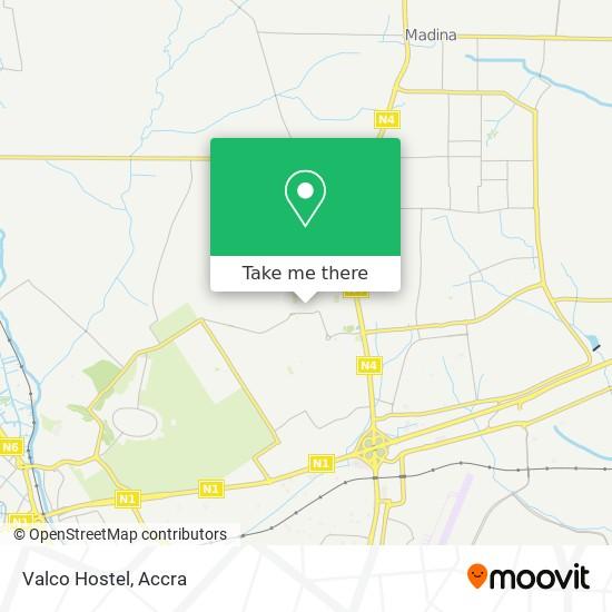 Valco Hostel map