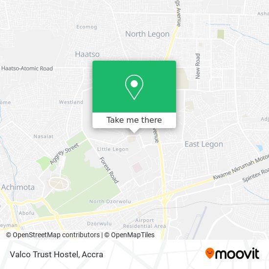 Valco Trust Hostel map