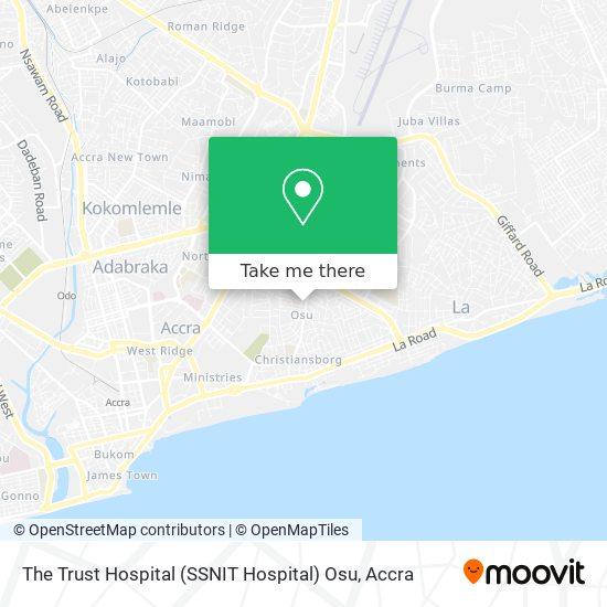 The Trust Hospital (SSNIT Hospital) Osu map
