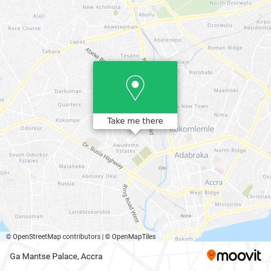 Ga Mantse Palace map