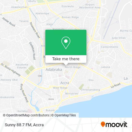 Sunny 88.7 FM map