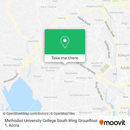 Methodist University College South Wing Grounfloor 1 map