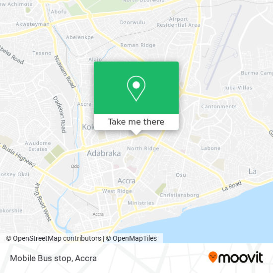 Mobile Bus stop map