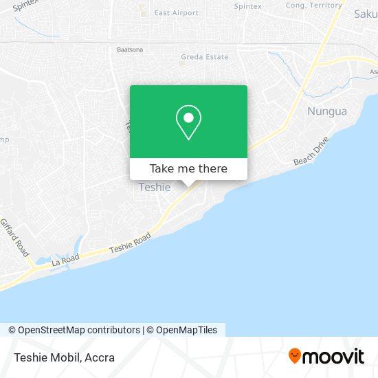 Teshie Mobil map