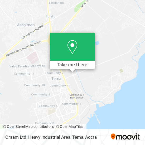 Orsam Ltd, Heavy Industrial Area, Tema map