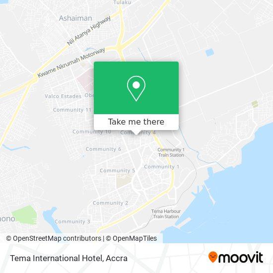 Tema International Hotel map