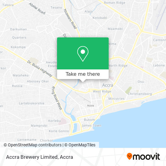 Accra Brewery Limited map