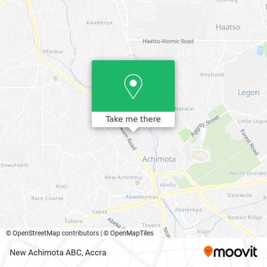 New Achimota ABC map