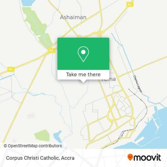 Corpus Christi Catholic map