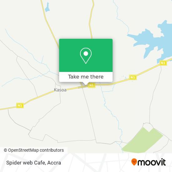 Spider web Cafe map