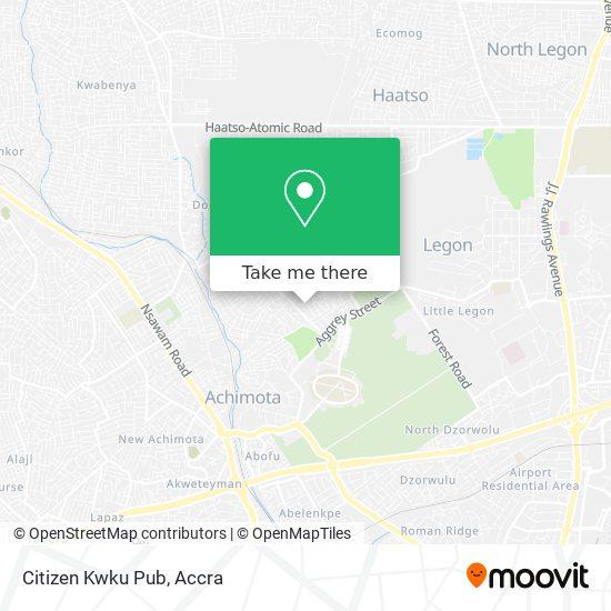 Citizen Kwku Pub map