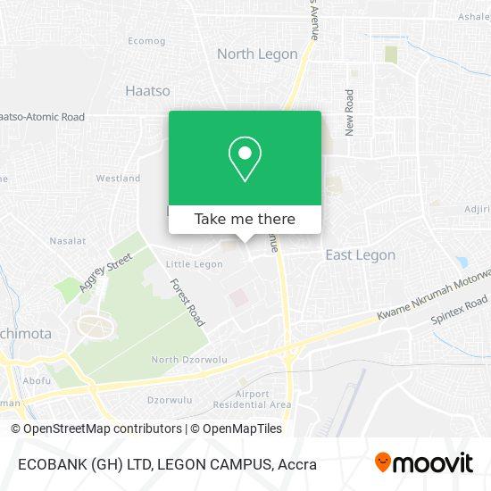 ECOBANK (GH) LTD, LEGON CAMPUS map