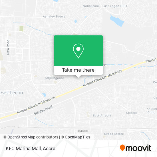 KFC Marina Mall map